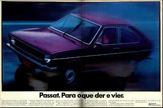 propaganda Volkswagem Passat - 1974.  anos 70. propaganda de carros anos 70