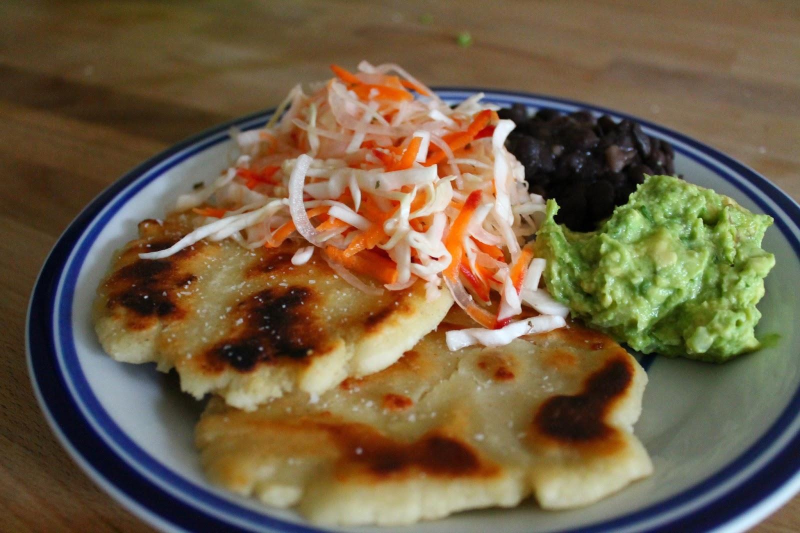 Salvadoran Pupusas Con Curtido (Masa Cakes With Cabbage ...Salvadoran Pupusas Con Curtido