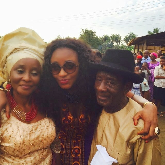 Ini Edo Supports Parents At Sister's Traditional Wedding