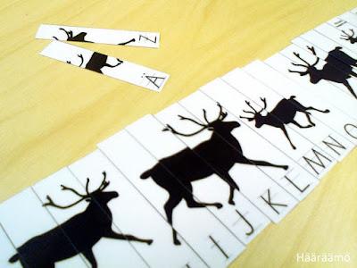 Puzzle ABC Reindeer