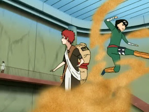 Gaara vs Rock Lee