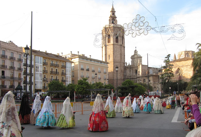 La Ofrenda, fallas, Valencia