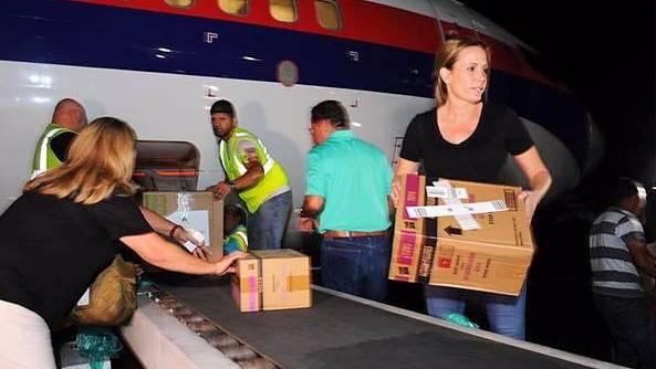 @NatyDenegri encabezó un viaje de ayuda sanitaria para Puerto Rico