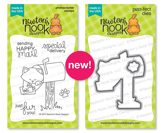 Newton's Happy Mail Stamp set and coordinating Die Set by Newton's Nook Designs #newtonsnook