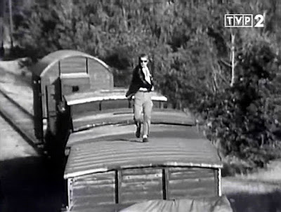 sceny kolejowe pościg