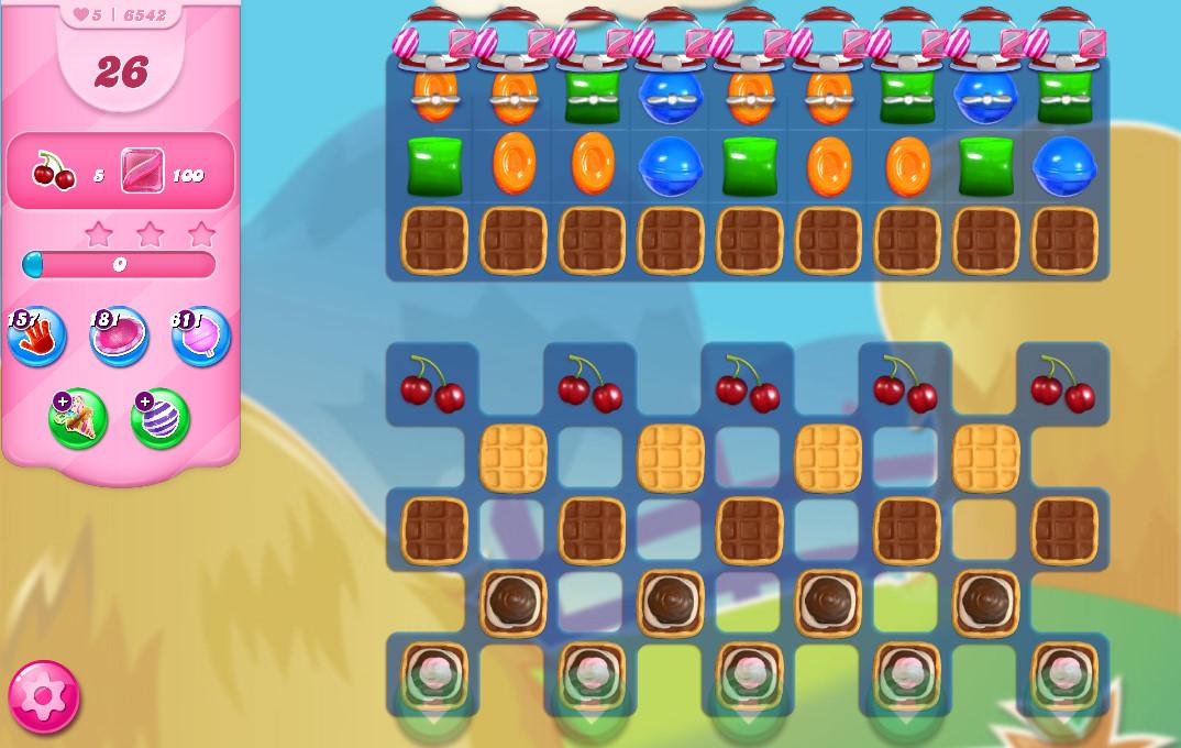 Candy Crush Saga level 6542
