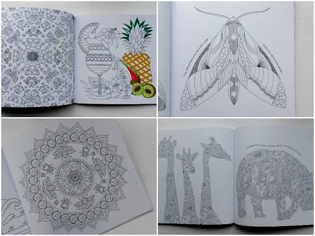 Blank colouring book pages