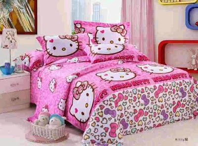 sprei Hello Kitty Leopard Pink