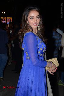 Telugu Actress Tejaswi Madivada Pos in Blue Long Dress at Nanna Nenu Na Boyfriends Audio Launch  0071.JPG