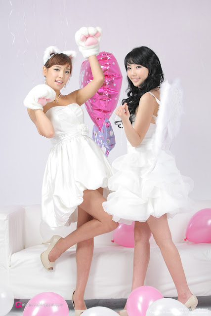 5 Kim In Ae and Mina – White Dresses - very cute asian girl-girlcute4u.blogspot.com