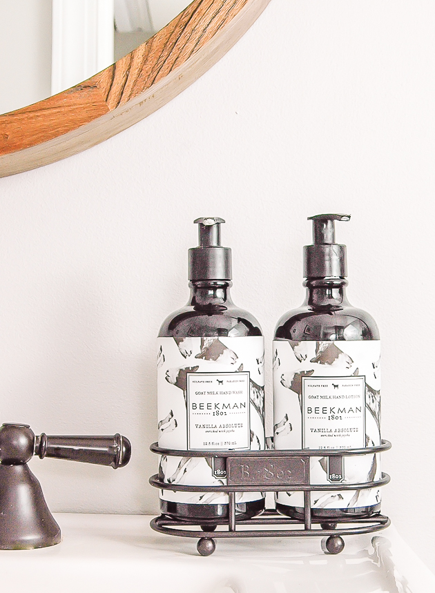 Beekman 1802 soap and lotion