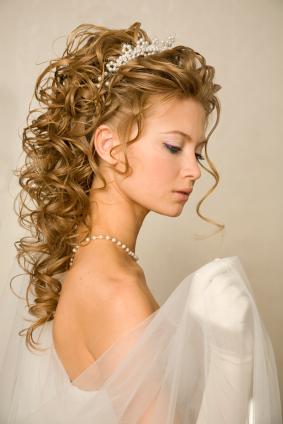 Wedding Haircuts Bridal Hairstyles Curly Updo Tiara Style