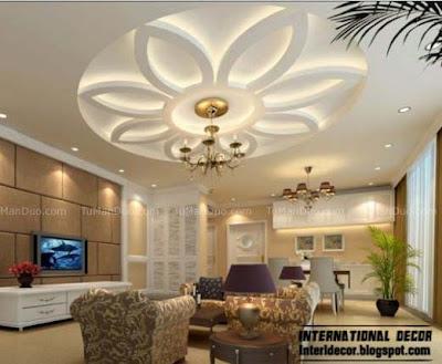latest pop designs for living room ceiling design ideas with plants اجمل تصميمات اسقف جبس واسقف معلقة 2019 - صور حصرية ...