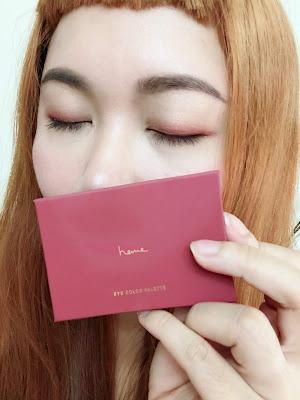Heme六色眼影盤, 紅梨試色及妝容分享