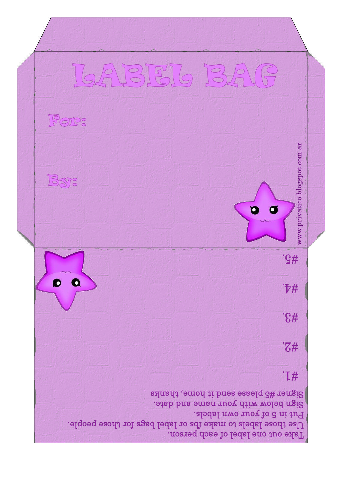 El Atico: Label Bags para imprimir