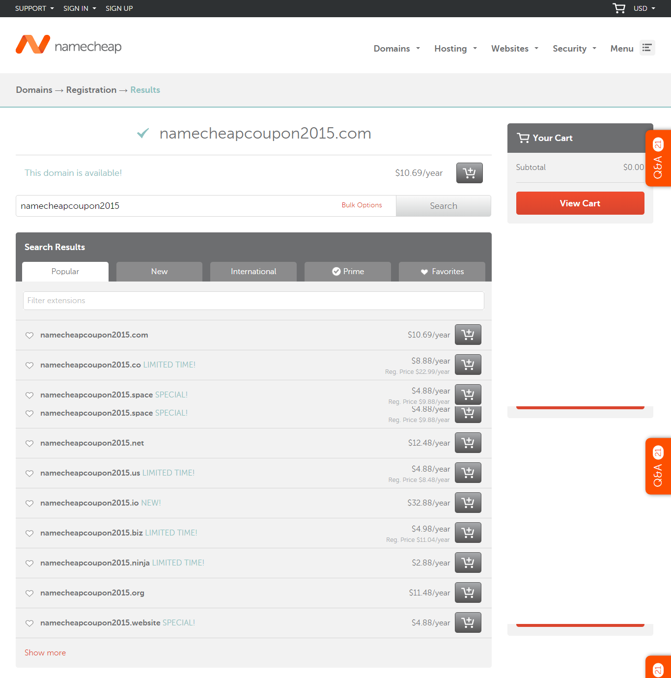 bulk domain namecheapcoupon2015