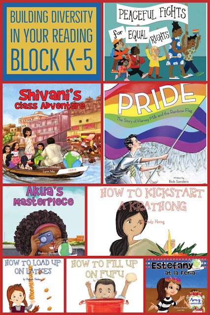 Click here to learn how to include diversity into your elementary reading block. Includes picture books that reflect all of our students from our classrooms. {first, second, third, fourth grade, homeschool} #diversity #pride