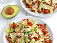 Clean Eating Turkey Taco Loaded Sweet Potato Fries
