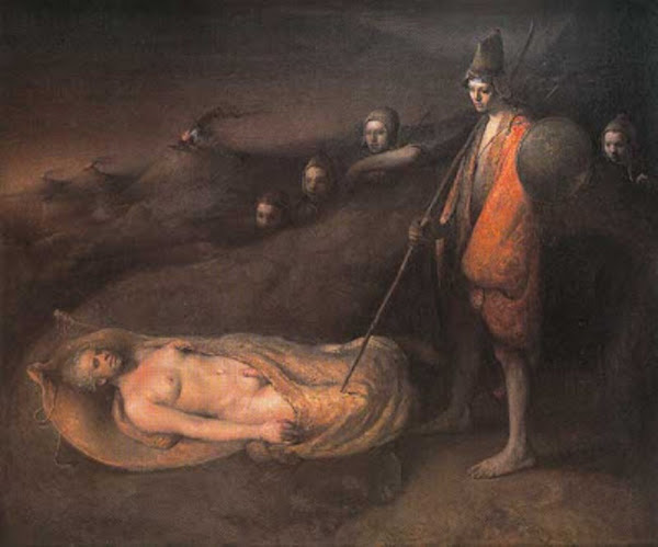 Sleeping prophet by Odd Nerdrum, Macabre Art, Macabre Paintings, Horror Paintings, Freak Art, Freak Paintings, Horror Picture, Terror Pictures