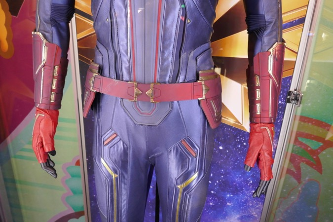 Captain Marvel costume belt detail