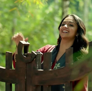 Keerthy Suresh in Maroon with Cute and Lovely Smile in Latest Ad 5
