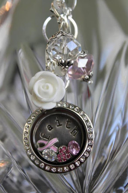 Cancer + Faith Origami Owl Living Locket from StoriedCharms.com
