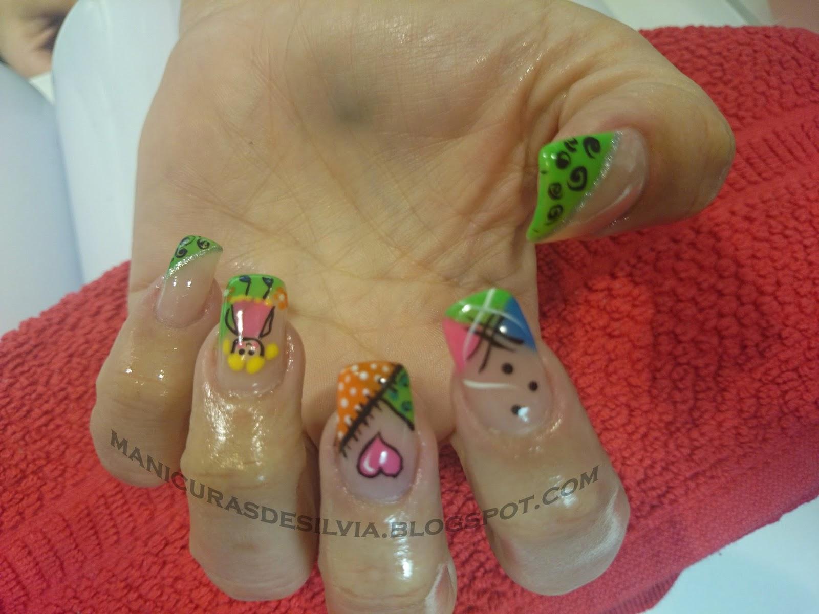 Manicuras De Silvia Uñas Neón Neon Nails