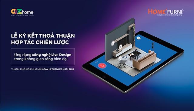 AZhome ứng dụng công nghệ Live Design vào thiết kế nội thất
