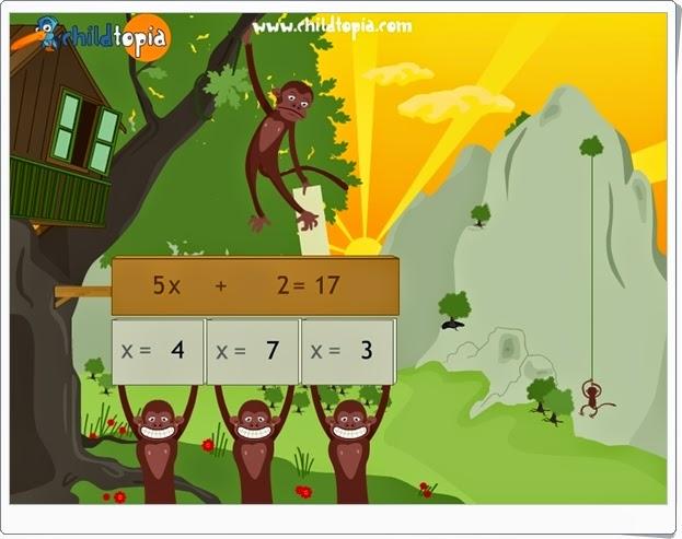 http://juegoseducativosonlinegratis.blogspot.com/2014/11/ayuda-escalar-al-mono-con-ecuaciones.html