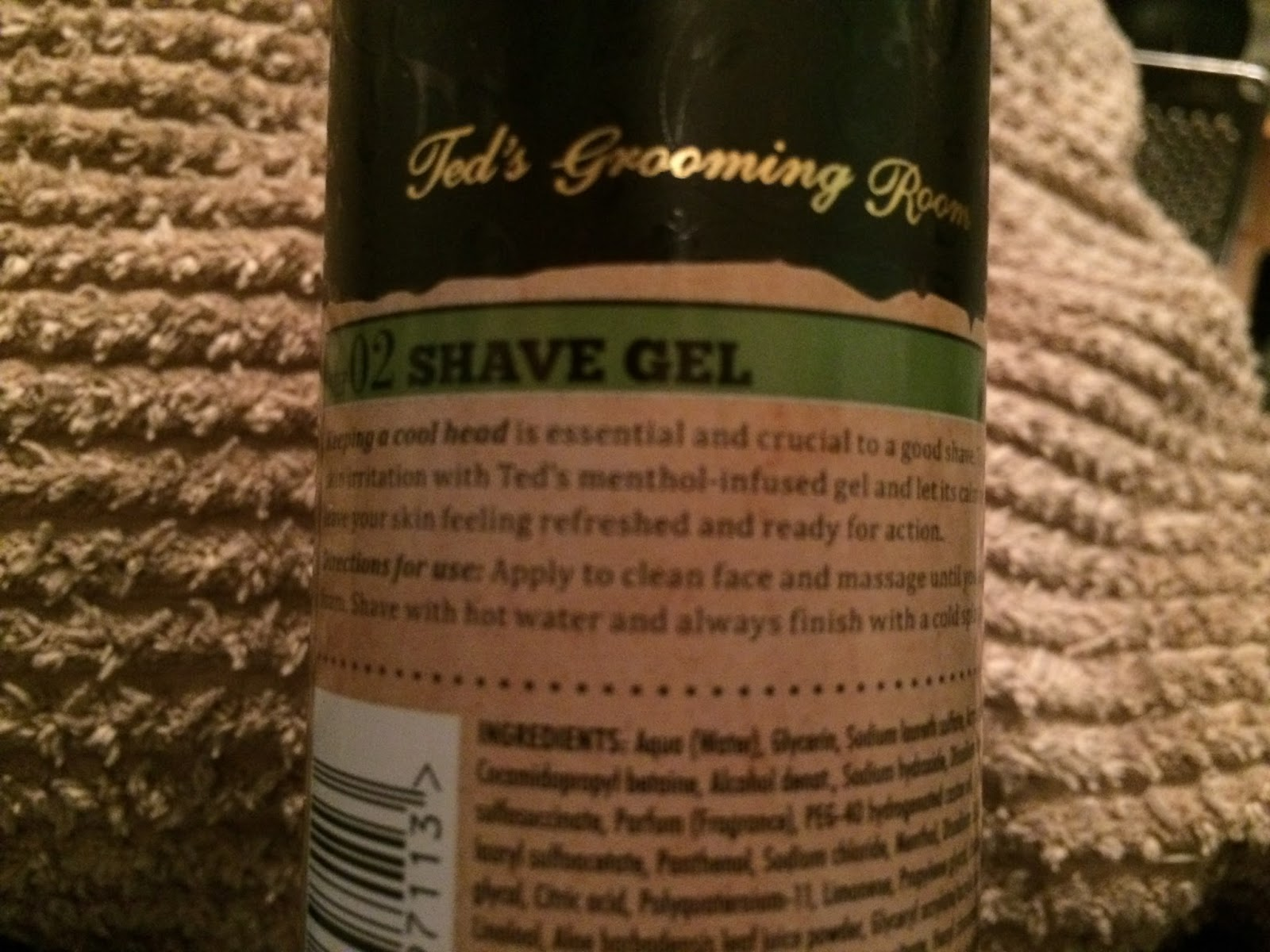 Ted's Grooming Room - Step 02 Shave Gel