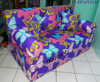 Sofa bed inoac 2016 motif KUPU-KUPU UNGU