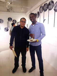 Nwobu Emeka Johnbosco Attends the Solo Exhibition of Choco Jerome at PASEO Gallery, Philippines