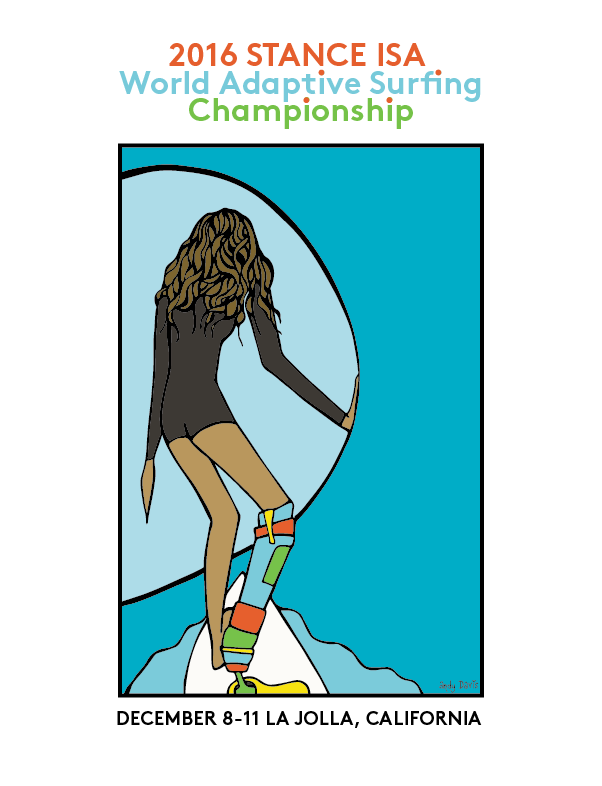 poster isa world adaptive surfing cahmpionship