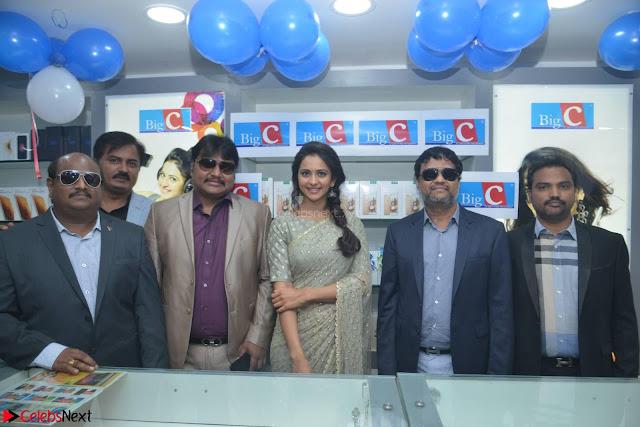 Rakul Preet Singh in a Designer saree at Launch of BIG C Show room at  Kurnool ~ Celebrities Galleries 011.jpg