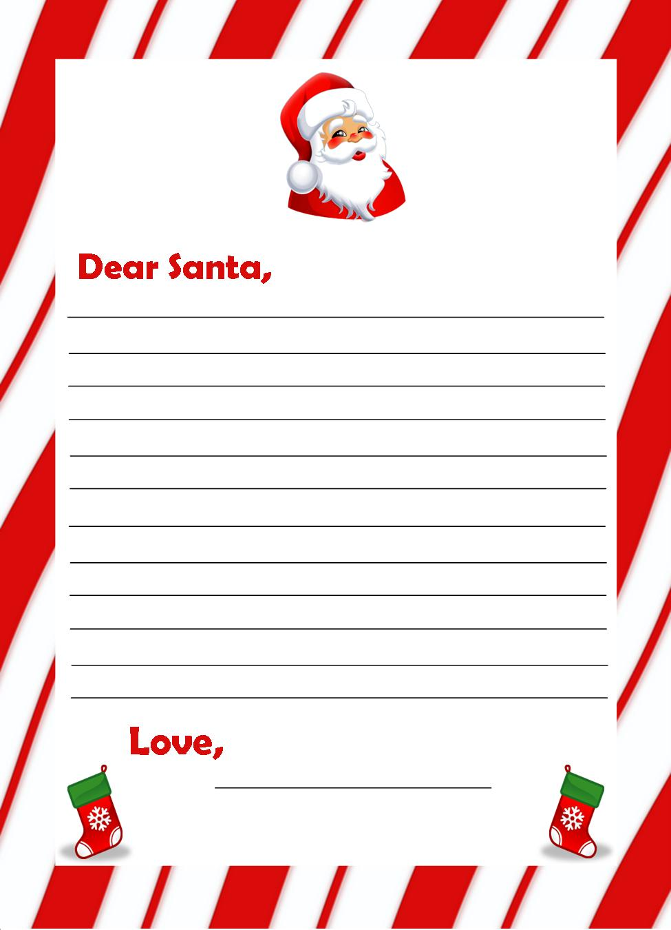 letters to santa paper to print coloring pages 15367