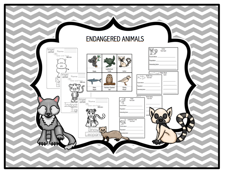 endangered animals printable preschool printables. Black Bedroom Furniture Sets. Home Design Ideas