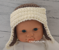 crochet baby hat with earflaps FREE Crochet Pattern