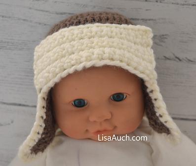 crochet baby hat with earflaps FREE Crochet Pattern
