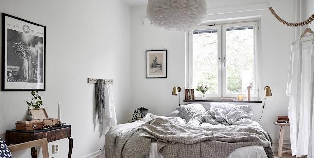 Idee per arredare una camera da letto in accogliente stile - Specchio stile industriale ...