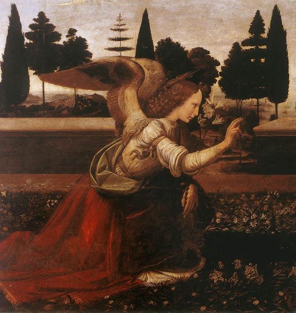 Clases De Arte Leonardo Da Vinci Anunciaci Los Uffizi 1472-75