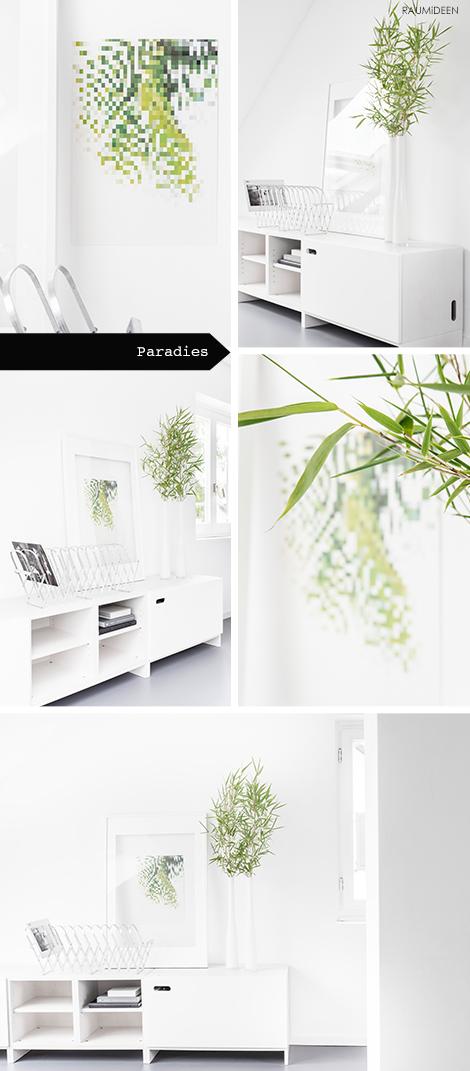 Dekoidee, Bambuszweige in der Vase
