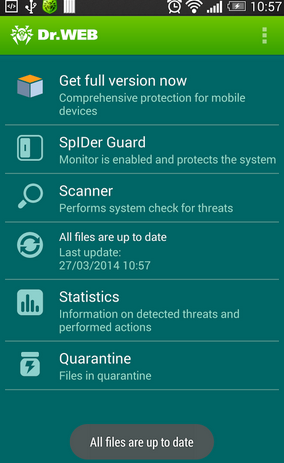 Dr. Web V.9 Anti-Virus Light - Aplikasi Antivirus Android Terbaik