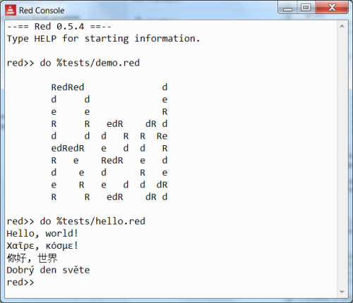 Red Programming Language: 0 6 0: Red GUI system