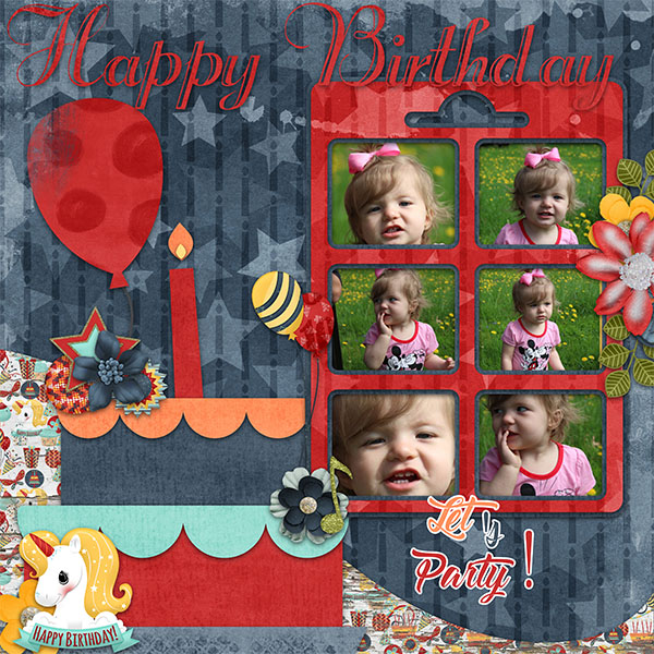 Birthday Wish Digital Scrap-booking -Word art 1