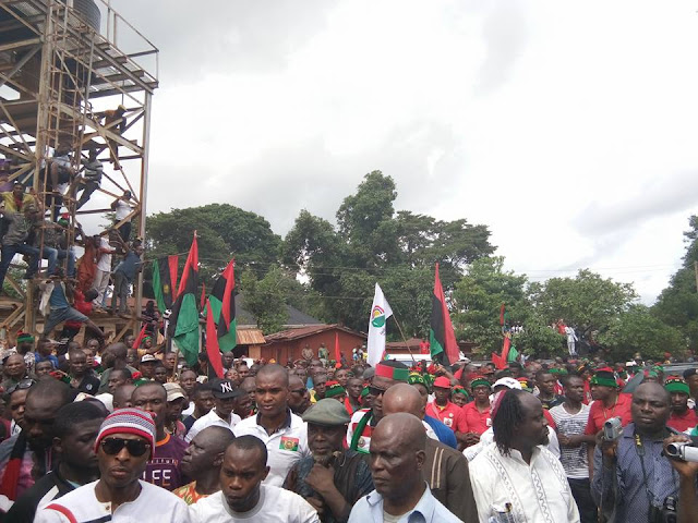 Biafra - Nnamdi Kanu in Anambra State