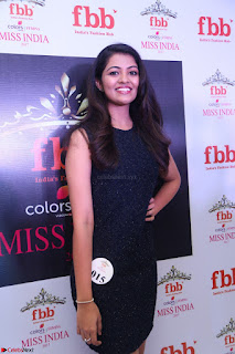 Model Shreya Kamavarapu in Short Black Dress at FBB Miss India 2017 finalists 046.JPG