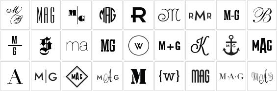 Monograms Definition