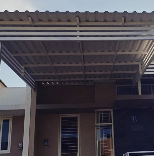 model kanopi baja ringan depan rumah