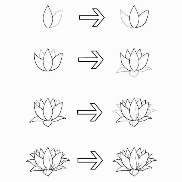 cara+menggambar+bunga