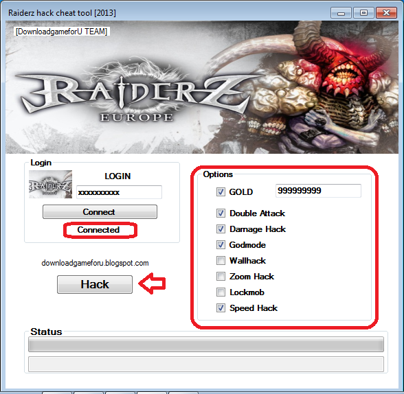 raiderz hack